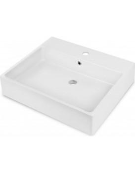 Keramické umyvadlo na desku DEANTE TEMISTO 60x50 cm bílé