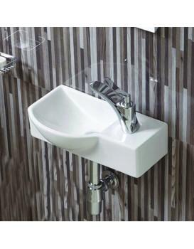Keramické umyvadlo klasické MEXEN HUGO 40x22,5 cm bílé - levá