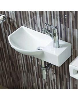 Keramické umyvadlo klasické MEXEN HUGO 45x24  cm bílé - levá