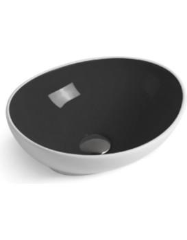 Keramické umyvadlo na desku Mexen ELZA 40 x 33 cm bílo-černá
