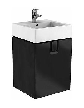 Umyvadlová skříňka KOŁO TWINS - závěsná, černý mat