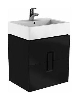 Umyvadlová skříňka KOŁO TWINS - černý mat, závěsná