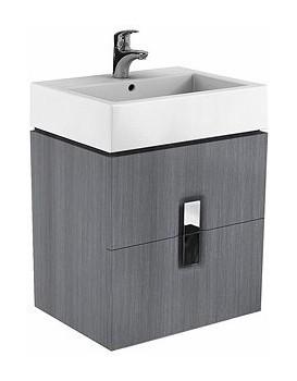 Umyvadlová skříňka KOŁO TWINS - stříbrný grafit, závěsná
