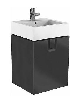 Skříňka pod umyvadlo KOŁO TWINS - černá mat