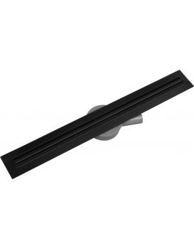 Odtokový žlab Mexen Flat 360 SLIM + sifon Black 60 cm