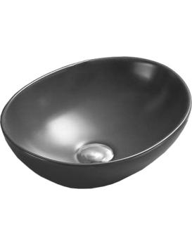 Keramické umyvadlo na desku Mexen ELZA 40 x 34 cm tmavě šedá