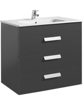 Umyvadlová skříňka s umyvadlem ROCA DEBBA  80 cm - šedý antracit