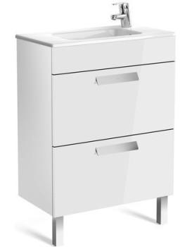 Umyvadlová skříňka s umyvadlem ROCA DEBBA  60 cm - bílý lesk