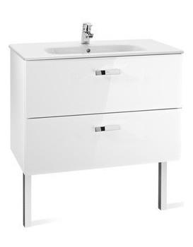 Umyvadlová skříňka s umyvadlem ROCA VICTORIA BASIC lesklá bílá