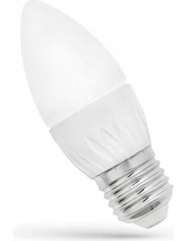 LED žárovka svíčka studená E-27 230V 6W