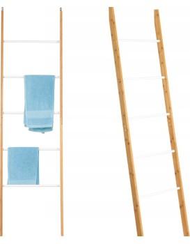 Bambusový žebřík - bílá