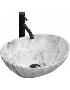 Keramické umyvadlo na desku Rea Sofia 41x34,5 cm Stone