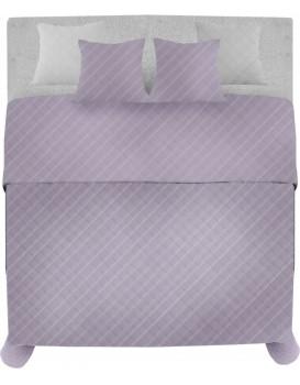 Přehoz na postel Palermo + 2 povlaky na polštář fialová