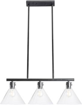 Stropní svítidlo APP318-3CP černé/transparentní