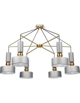Stropní svítidlo Modern šedé/zlaté