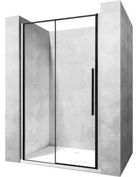 Sprchové dveře SOLAR BLACK MAT 120 cm