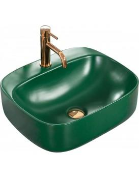 Keramické umyvadlo na desku Rea Luiza 50x42 cm Green