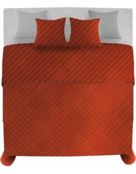 Přehoz na postel Palermo + 2 povlaky na polštář červená