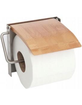 Nástěnný držák na toaletní papír Bamboo hnědý
