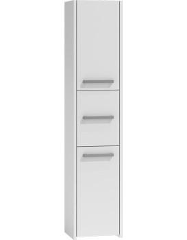 Koupelnová skříňka Bára - vysoká, bílá
