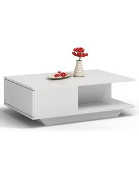 Konferenční stolek DENVER lesklý bílý