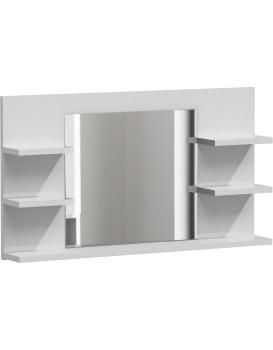 Koupelnová polička se zrcadlem LUMO L5 bílá mat