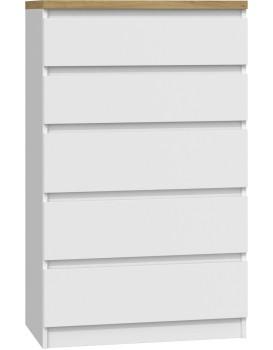 Komoda ARTISAN M5 bílá - 5 šuplíků