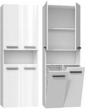 Koupelnová skříňka ARDIA 4 lesklá bílá
