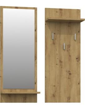 Věšáková stěna se zrcadlem- RIVA- DUB artisan