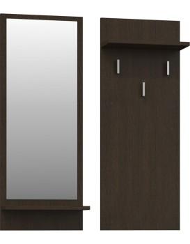 Věšáková stěna se zrcadlem- RIVA- Wenge