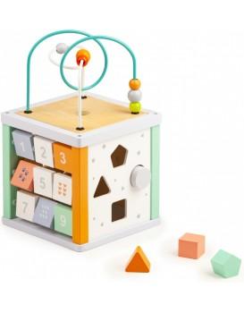 Vzdělávací dřevěná kostka pro děti + malé kostičky