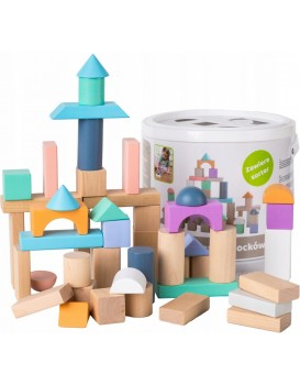 Dřevěné kostky Eco Toys 50 ks