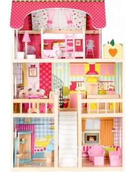 Dřevěný domeček Rezidence Malina + 2 panenky Ecotoys
