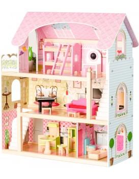 Dřevěný domek pro panenky Pohádková rezidence Eco Toys