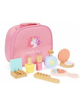 Sada dřevěné kosmetiky na líčení + taška Ecotoys