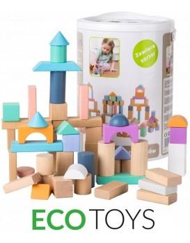 Dřevěné kostky Eco Toys 100 ks
