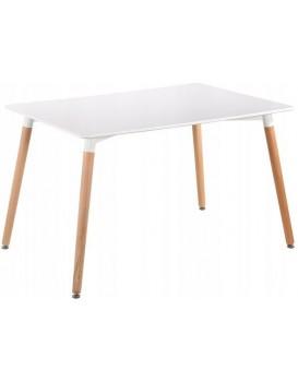 Moderní jídelní stůl 120x80 cm Copper bílý