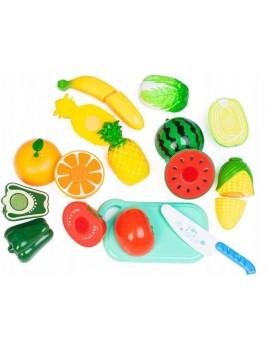 Plastová sada ovoce+zelenina+deska+nůž
