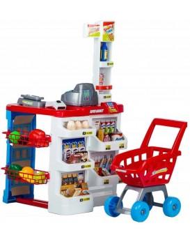 Plastový supermarket pro děti - 24 dílů