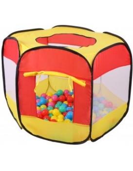 Suchý bazén + 100 míčků Iplay červený/žlutý