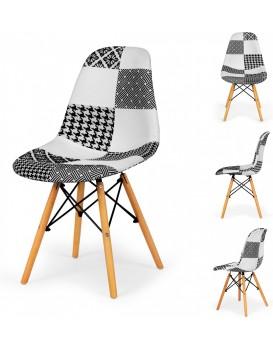 Sada jídelních židlí patchwork