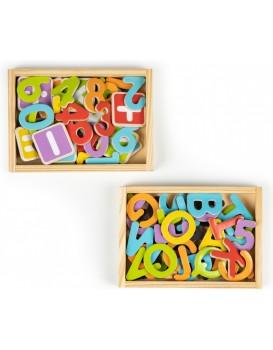 Sada magnetických čísel a písmen barevné