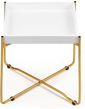 Konferenční stolek LOFT bílý/zlatý