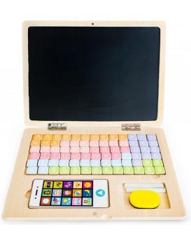 Dřevěný laptop s magnetickou deskou Eco Toys