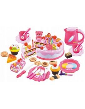 Plastová sada dort+doplňky 80 kusů