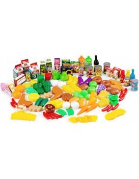 Plastová zelenina, ovoce a potraviny do kuchyně GoodHome - 120 kusů