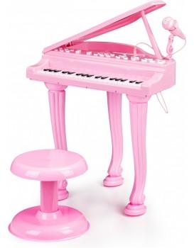 Dětské piano s mikrofonem Tinny růžové