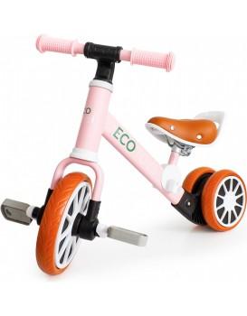 Dětské odrážedlo s pedály 2v1 EcoToys růžové