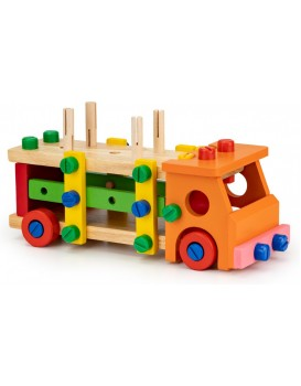 Dřevěné výukové stavební bloky ECOTOYS