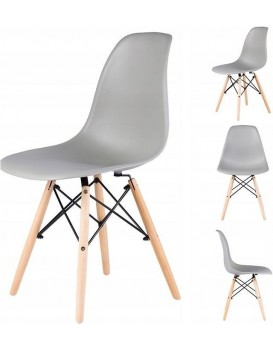 Jídelní židle GoodHome Italiano 4 kusy - šedé